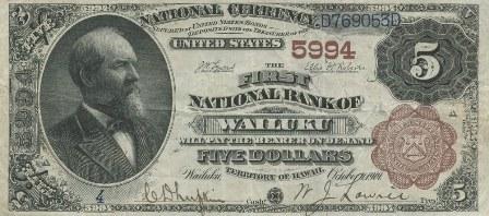 five dollar paper money
