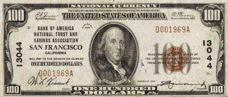 one hundred dollar paper money