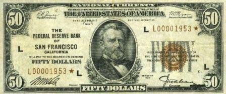 rare 1929 paper money star