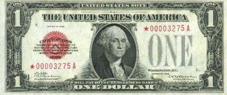 rare legal tender star paper money