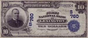 rare paper money $10 blue seal