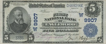 rare paper money $5 blue seal