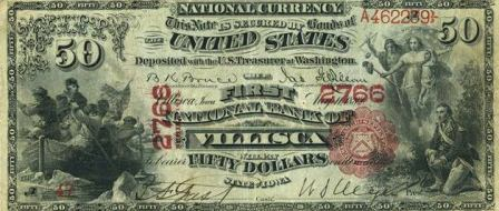 rare paper money $50 bank notes