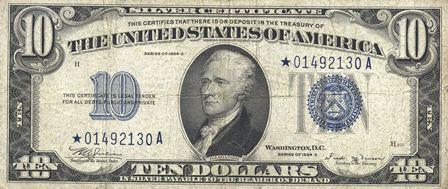 rare ten dollar paper money star note