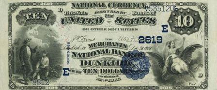 ten dollar paper money