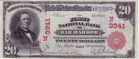 twenty dollar paper money